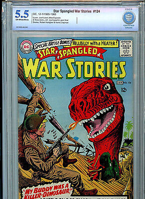 Star Spangled War Stories  #124 DC Comics Silver Age CBCS Graded 5.5 FN- 1966