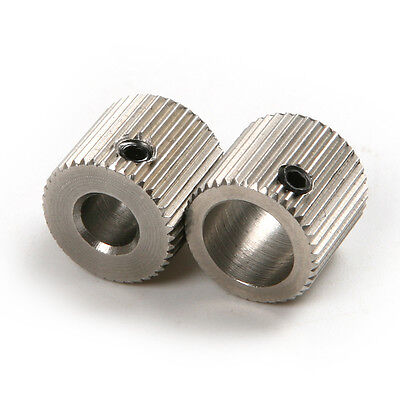 3D Printer Feeding Gear Stainless Steel40 Tooth Feed Rollers 5/8mm Aperture