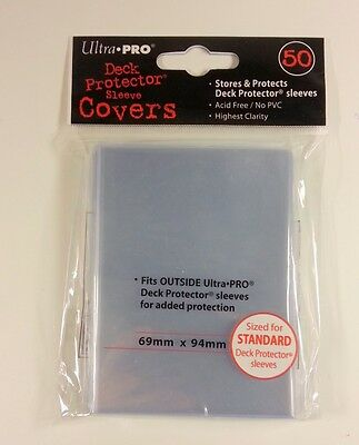 50 Ultra Pro Standard Sleeve Cover Clear ( 69 x 94mm )
