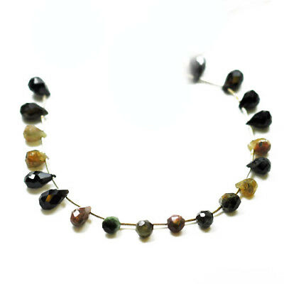 Strand 18+ Mixed Tourmaline Approx 6-12mm Handcut Faceted Briolette Beads SR1030