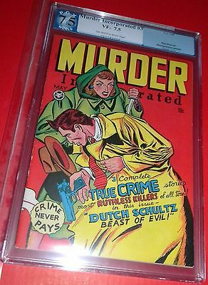 Murder Incorporated #3 Strangulation Panels Pgx 7.5 Vf- Fox 1948