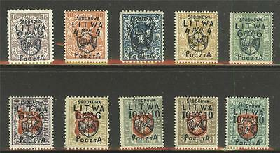 Central Lithuania Sc.13-22 LH, signed, cat. $3200+