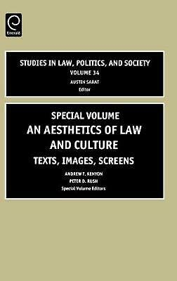 An Aesthetics of Law and Culture: Texts, Images, Screens with CDROM by Kenyon (E