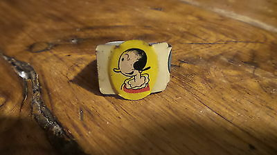 1949 POST TOASTIES CORN FLAKES OLIVE OYL Tin Litho RING