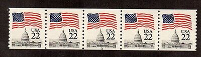 #2115a Flag over Capitol PNC5  PL#18 - MNH