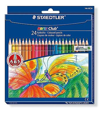 Staedtler 144 NC24 Buntstift Farbstift Malstift Noris Club Etui 24 Stifte