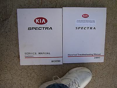 2000 KIA Spectra Electrical Troublehooting Manual + Supplement Electric Hose  U