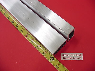 "2 Pieces 1""x 2""x 1/8"" Wall ALUMINUM RECTANGLE TUBE 6063 T52 x 36"" Long"
