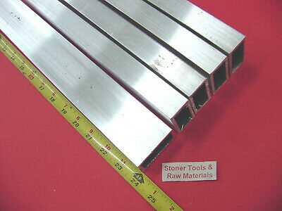 "5 Pieces 1""x 2""x 1/8"" Wall ALUMINUM RECTANGLE TUBE 6063 T52 x 24"" Long .125"" W"