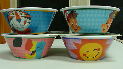2015 Set Of 4  Kelloggs Cereal Bowls Collectible New Rare Collectible!!limited!