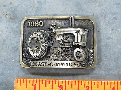 Vintage CASE 830 Tractor Belt Buckle 1960 Limited Edition SC Spec Cast Brass