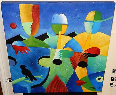 Hillmer Oil On Canvas Abstract Jazz Band Painting 69 99
