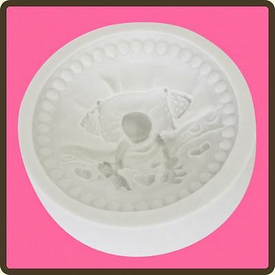 Cupcake Fondant Icing Sugar Paste Embellishment Topper Mould: Baby 4 - Bed