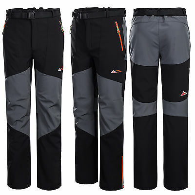 Mens Soft Shell Hiking Waterproof Outdoor Pants Windproof Breathable Trousers