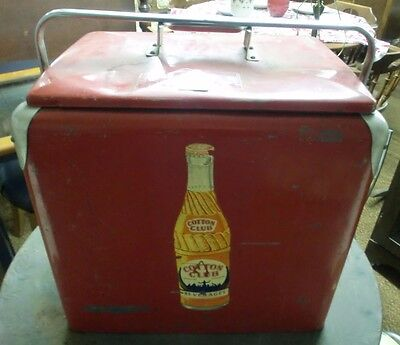 Vintage Cotton Club Carry Cooler All Original w/Opener Made in USA