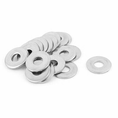 8mm Hole 304 Stainless Steel Weldless Flat Washer Shim Gasket 20pcs
