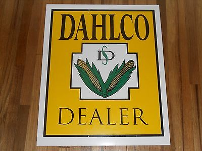 Vintage DAHLCO Seed Corn Dealer Agriculture Farm Metal Advertising Sign FEED