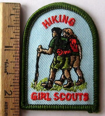 GSUSA Girl Scout HIKING - FUN PATCH Badge Crest Walking Stick Boots Climbing