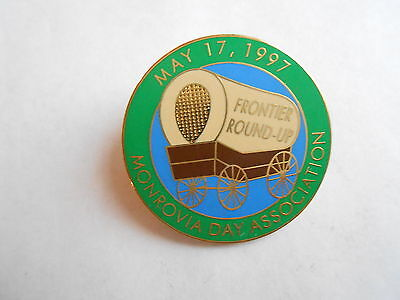 Vintage 1997 Monrovia (CA) Day Association Frontier Round-Up Souvenir Enamel Pin