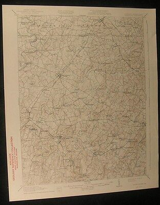 Taneytown Maryland Westminster 1944 vintage USGS original Topo chart map
