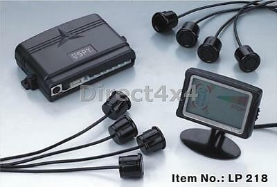 8 Reversing Parking Sensors For Front & Rear With Lcd Display In Black Or Silver