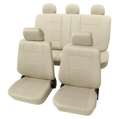 Beige Seat Covers with a Classy Leather Look - Toyota COROLLA Verso 2004 to 2009