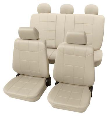 Beige Seat Covers with Classy Leather Look - Toyota AVENSIS Saloon 2009 Onwards
