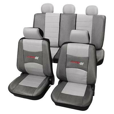 Stylish Grey Seat Covers set - For BMW 3-Series E46 1998-2005
