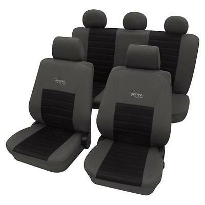 Sports Style Seat Cover set - For Mitsubishi L 200 2005-2015 - Grey & Black