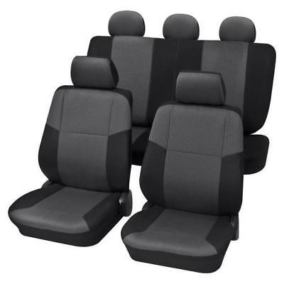 Charcoal Grey Premium Car Seat Cover set - For Renault CLIO III 2005 Onwards