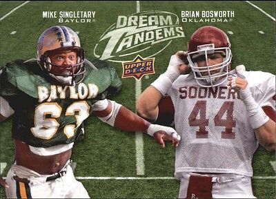 2011 Upper Deck Dream Tandems #DT-13 Mike Singletary Brian Bosworth > Seahawks
