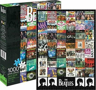 The Beatles Fab 4 Singles Covers Collage 1000 Piece Color Jigsaw Puzzle SEALED