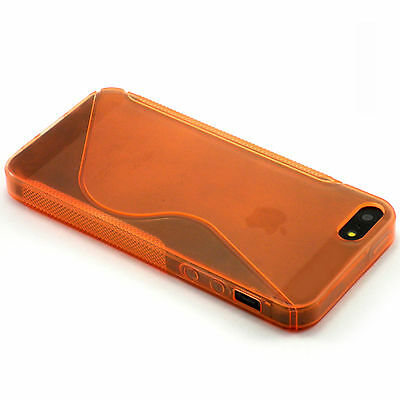 S-Line Orange TPU Rubber Soft Case For Apple iPhone 5 5S SE Line NEW!