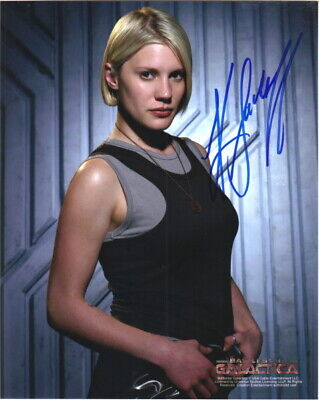 Katee Sackhoff on Battlestar Galactica as Starbuck Autographed Picture #1