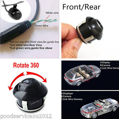 MINI 360° ROTATABLE Car Reverse Camera Sony CCD Multi-function