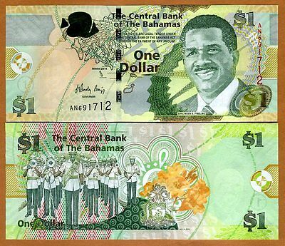 Bahamas, 1 dollar, 2015, Pick New UNC   Modified