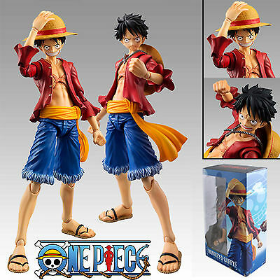 "One Piece Heroes Monkey D Luffy 18cm/7"" PVC Action Figure Figma Toys New In Box"