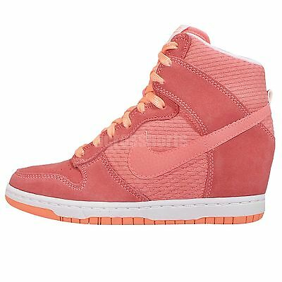 Nike Wmns Dunk Sky Hi Essential Pink Womens Wedge Sneakers Shoes 644877-602