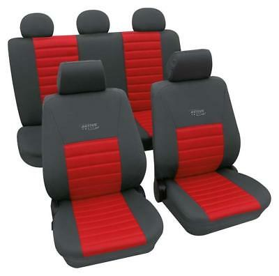 Sports Style Car Seat Covers - Grey & Red - For Fiat Panda 2012 Onwards