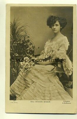 b1316 - Stage Actress - Minnie Baker - postcard