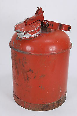 Vintage Eagle FM Safety Fuel Can Gas Container Red Five (5) Gallon Capacity