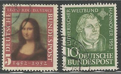 2 Germany Stamps Scott #687 & 689 from Quality Old Album 1952