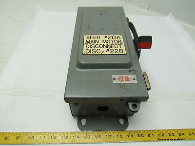 Square D HU361AWKE 30 amp 600 Volt non fused safety switch disconnect