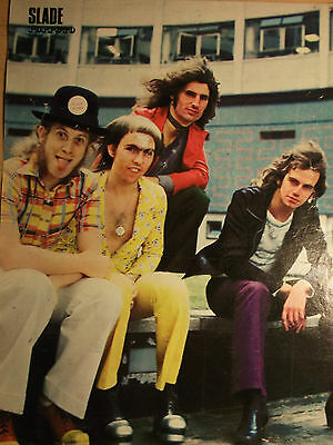 1 german clipping SLADE 1971 NOT SHIRTLESS ROCK BOY BAND BOYS from POPFOTO mag