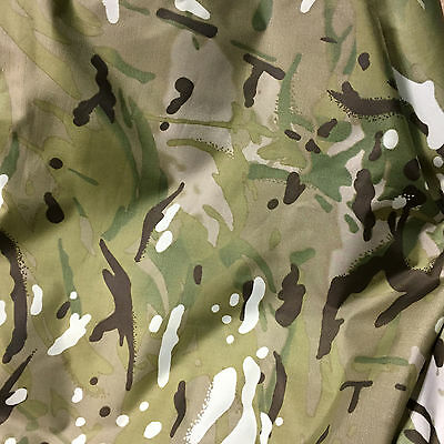 1 x Metre Waterproof Multicam / MTP Match 4oz Nylon ( Army Camouflage fishing