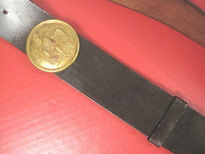 Civil War Era Union 1826 Shoulder Belt Plate w/Leather Shoulder Belt - Original