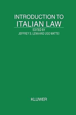 Introduction to Italian Law by Jeffrey Lena (English) Hardcover Book Free Shippi