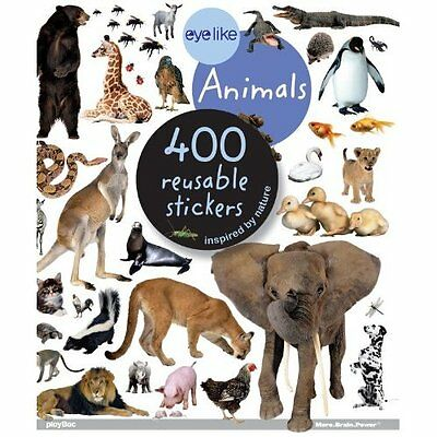 Animals: 400 reusable stickers inspired by nature - Paperback NEW Playbac Publis