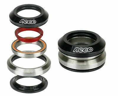 "NECO Bike CNC Full Integrated Headset 1-1/8"" with 7.8mm Top 30mm Bottom Bearing"