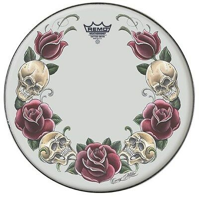 "Remo 14"" Tattoo Rock And Roses Drum Head TT-0814-AX-T05"